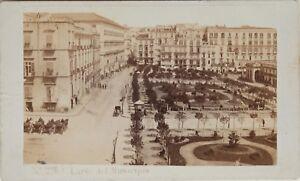 Carlo-Ponti-Italia-Grande-Place-Napoli-CDV-Foto-Vintage-Albumina-c1860-5
