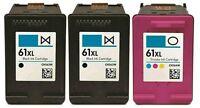 3 pk HP 61 XL Ink Cartridge Combo CH563WN CH564WN Black & Color 61XL