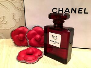 e9e552ac Details about NEW FACTICE STORE DISPLAY CHANEL No 5 L'EAU RED EDITION 2018  (NO PERFUME) 100 ml