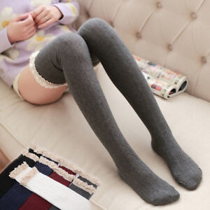ebabae02f97 Over The Knee Long Socks Ladies Women s Cotton Knit Thigh High ...