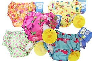 Lot-of-3-I-Play-Girl-039-s-Bathing-Suit-Ultimate-Reusable-Washable-Swim-Diapers-18M