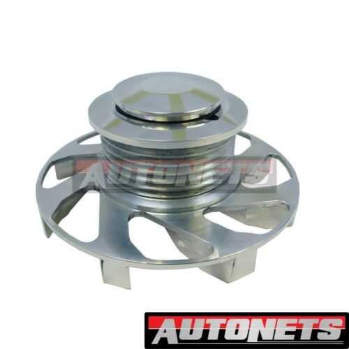 GM Polished Aluminum Alternator Fan and Pulley Serpentine Style SBC BBC 6 Groove