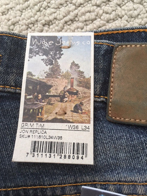 NUDIE JEANS GRIM TIM JON REPLICA LENGTH IS 32 ON ALL BRAND NEW NEVER WORN
