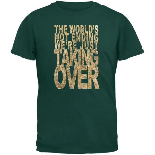 Graduation Taking Over the World Funny Forest Green Adult T-Shirt