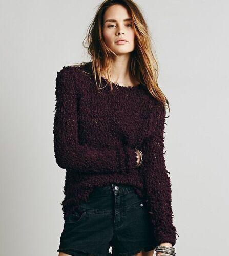 Szm Nwt melanzana People September 00 pullover Canzone lunga 98 Free manica maglione fEEwqBr