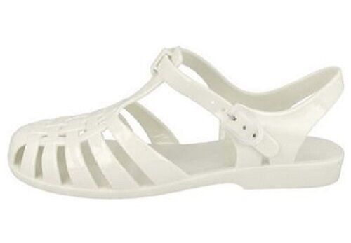 SALE LADIES SPOT ON CASUAL RETRO SUMMER FLAT JELLY SHOES F0711 IN 10 COLOURS