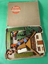 Kubbi Spielzeug - Holz Spielzeugkasten Thema Wald - Erzgebirge 1940er Jahre