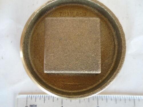 Jones 2-1//2 Inch Brass Square Head DWV Clean Out Plug  8 TPI NEW
