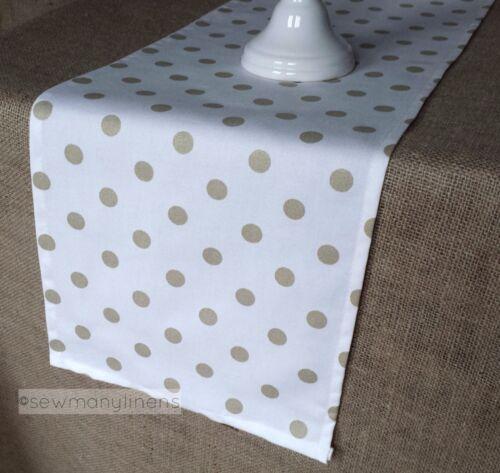 Gold Polka Dot Table Runner Metallic Gold Home Decor Linens Table Centerpiece