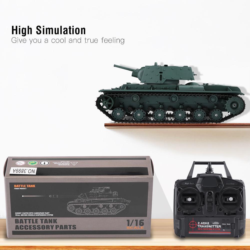 Henglong 3878-1 1:16 2.4Ghz simulazione RC Remote BATTLE TANK MODEL Giocattolo Regalo