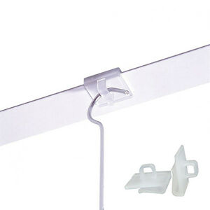 20 X Suspended Ceiling Clips Hangers Clear Plastic