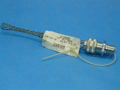 "Cooper Arrow Hart DC100500 Cord Grip Strain Relief 1//2 NPT Straight 0.5-0.625/"""