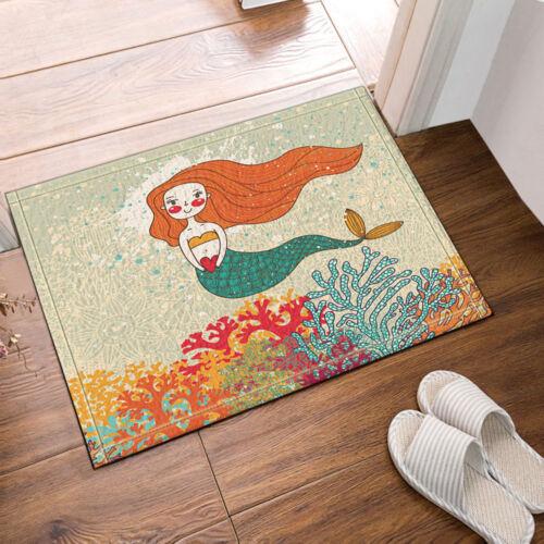 Cartoon Little Mermaid Tissu Imperméable Home Decor Rideau de Douche Salle De Bain Tapis