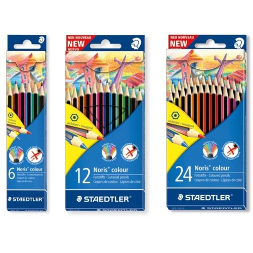 12 o 24 Hexagonal Lápices De Colores Staedtler Noris De Lápices De Colores-Packs De 6