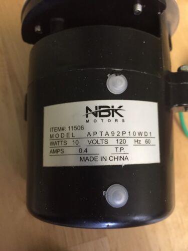 Hoshizaki Pump Motor Assy Model# APTA92P10WD1 SAME DAY SHIPPING