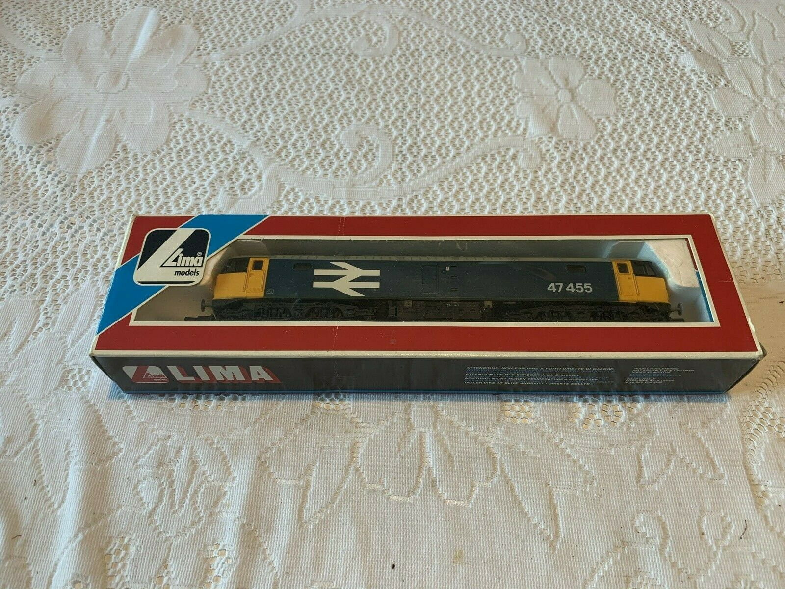 Lima L205216 Class 47 r n 47455 BReLL (extended) Blau in mint boxed condition.