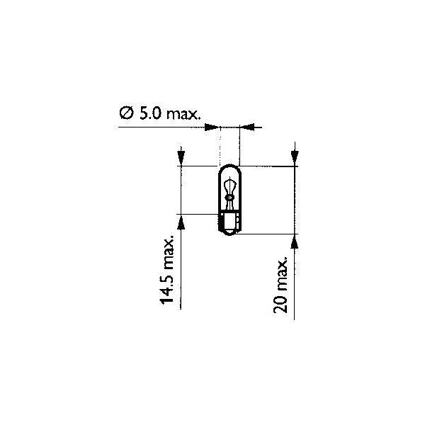 MS-6684E1D813 LAMPADA SPIA CRUSCOTTO PHILIPS  97/98 BW?S BUMP 50 YAMAHA 12V-1,2W