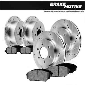 Front-Rear-Rotors-Metallic-Pads-For-Chevy-Silverado-Suburban-Tahoe-Sierra-Yukon