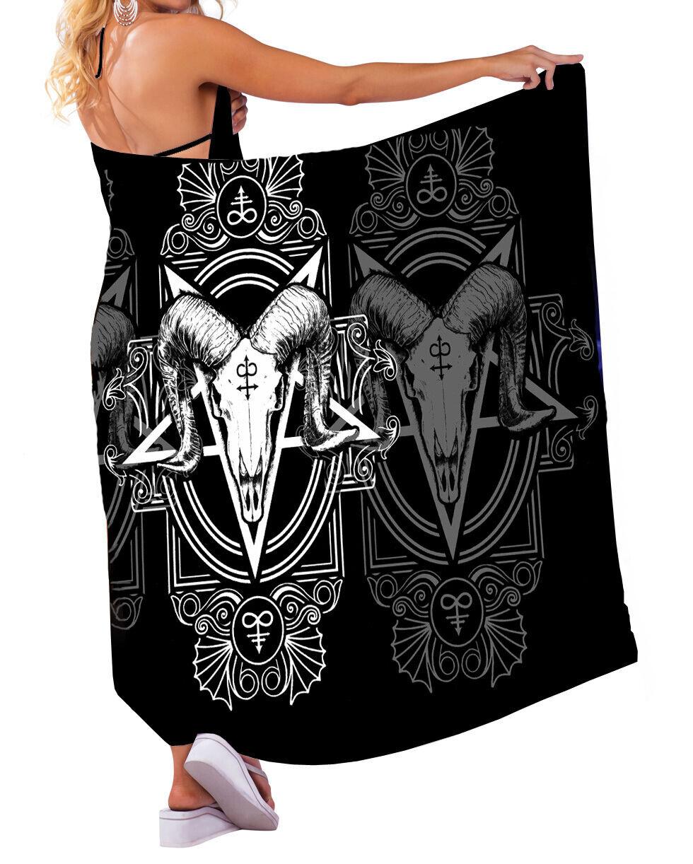 Wild Star - SATANIC SARONG - Summer / Beach / Pool Wear / Goth / Occult Fashion