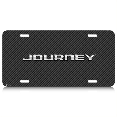 Dodge Journey Carbon Fiber Look Graphic Aluminum License Plate Made in USA