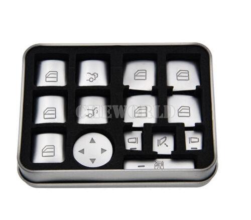 14X Fensterheber Schalter Taste Zierleisten Für Benz A B Klasse W176 W246