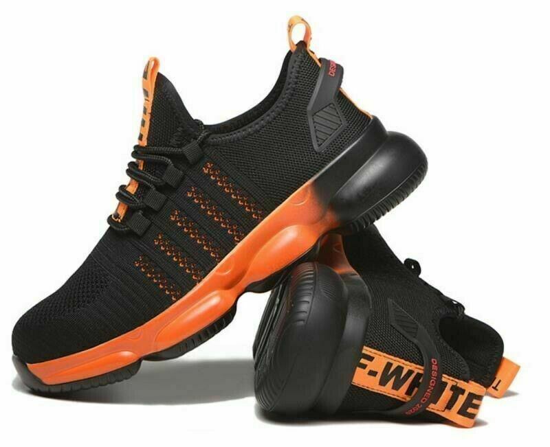 Mens Steel Toe Safety Shoes Trainers Work Boots Sports Hiking Sneakers UK 7-12