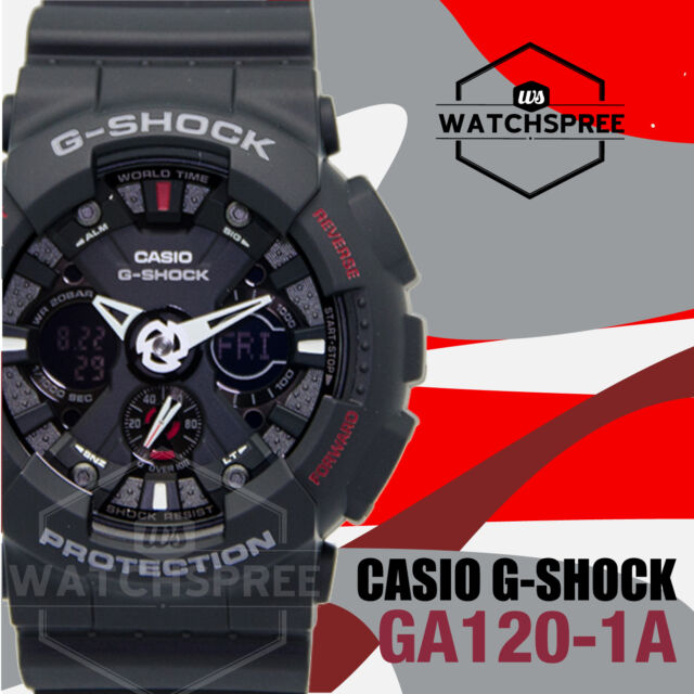 Casio G-Shock Motorcycle Sports Motif GA-120 Watch GA120-1A AU FAST & FREE