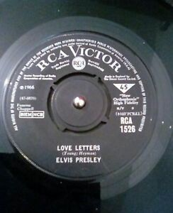 Elvis-Presley-Love-Letters-Vinyl-7-034-Single-UK-RCA-1526-1966