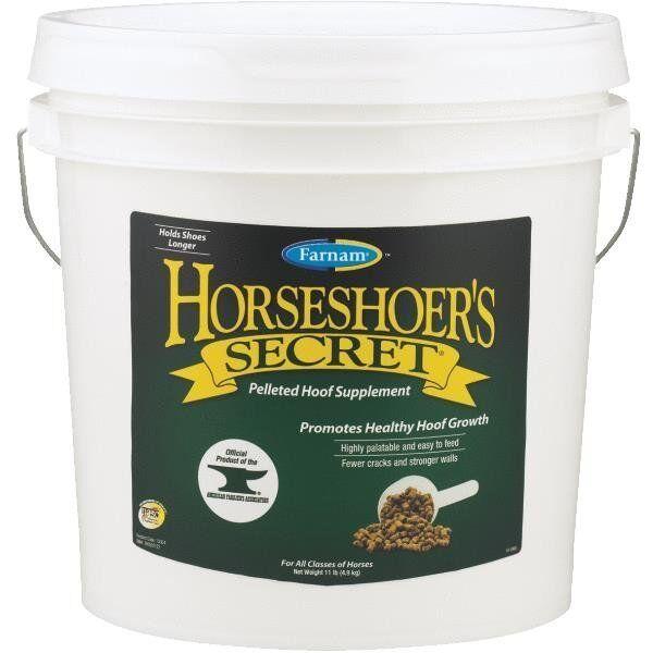 Paquete De 4 horsezapatosr ´ s Secret 11   Cubo Equino Caballo piensos Hoof Suplemento 13304