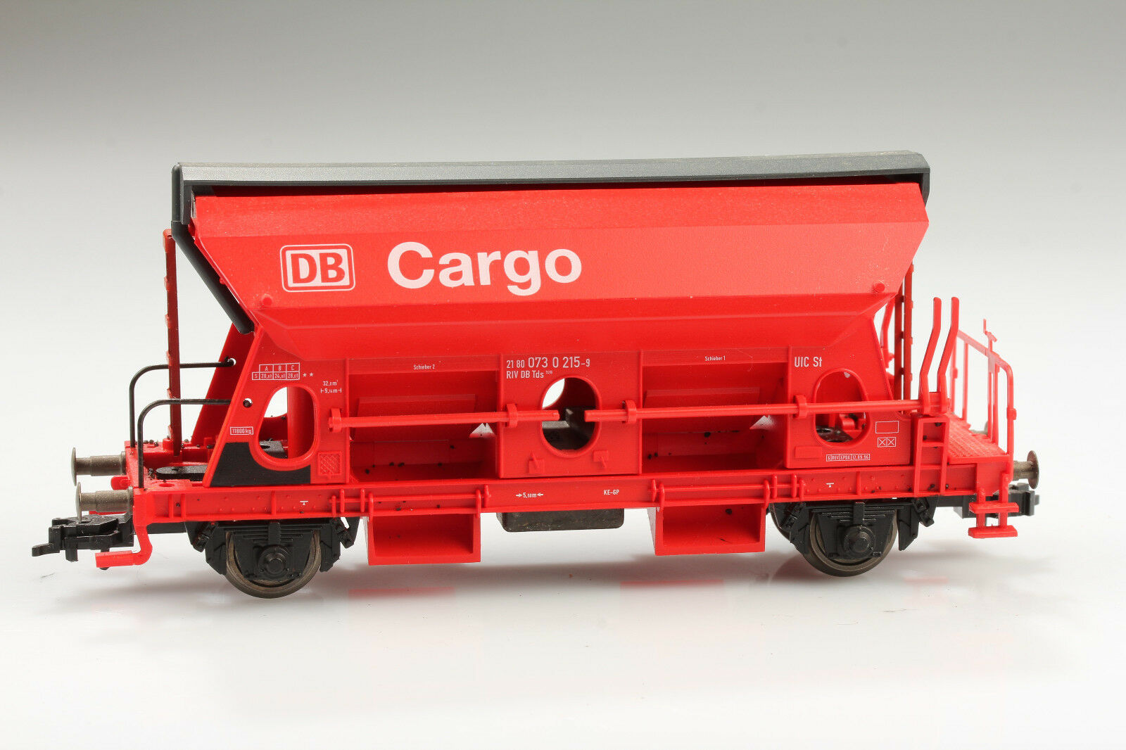 H0 Fleischmann Schüttgutwagen DB Cargo 073 0 215-9 Schmutz Kratzer ohne OVP