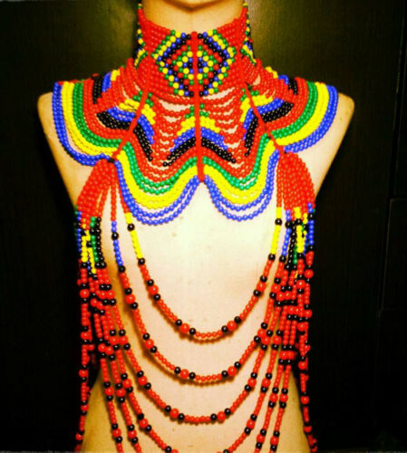 #3 Colorful Bead Drag Queen Showgirl Cabaret COSTUME JEWELRY Choker Necklace