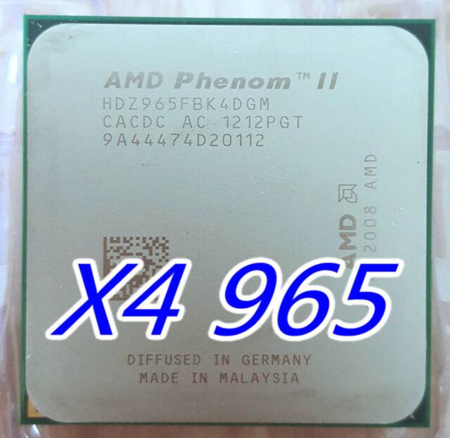 AMD Phenom II X4 965 3.4GHz Quad-Core CPU Processor