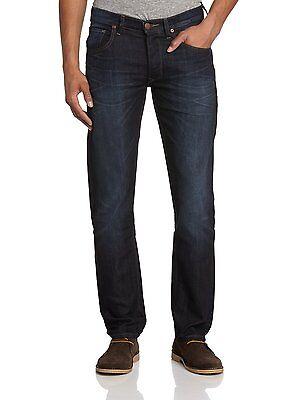 New Men's Lee Daren Slim Denim Jeans Dark Vintage Strong Hand Straight Leg Faded