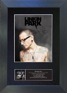 Desktop Frame Portrait Linkin Park Autograph Replica Print Chester Bennington