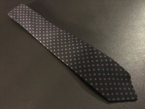 vtg-Briar-euc-Navy-Blue-Fine-Geometric-Men-039-s-Tie-Necktie-57-034-3-034