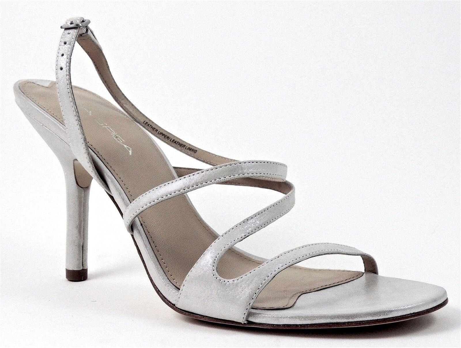Via Spiga vestido para mujer de felicidad Charol Cuero Nobuck Nobuck Nobuck plata de tamaño 9.5 (B, M)  hermoso