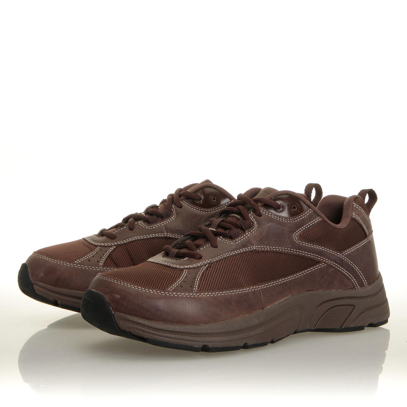 Drew Aaron marrone Pelle Therapeutic Walking Taglia Shoe - Uomo Taglia Walking 9 6E 29fe04