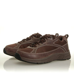 4d56b2df08 Image is loading Drew-Aaron-Brown-Leather-Therapeutic-Walking-Shoe-Mens-