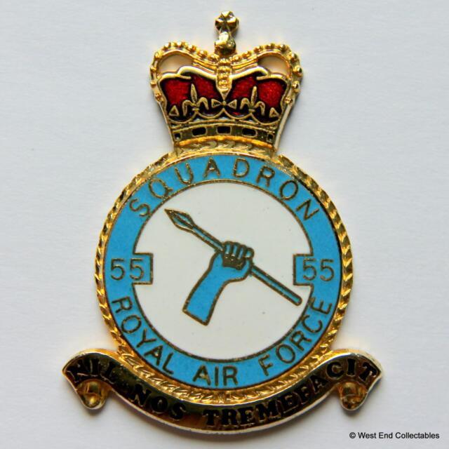 RAF 55 Squadron DANBURY MINT Blank Badge -24ct Gold Detail 1970s Royal Air Force