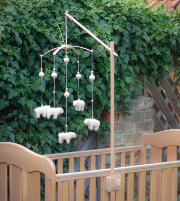 Wooden Baby Mobile Arm 62cm Holder Nursery Crib Cot Attachment Birch Hanger