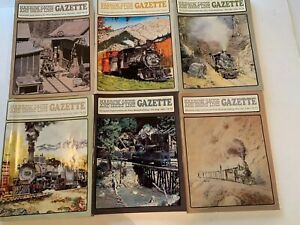 29-Narrow-Gauge-and-Short-Line-Gazette-Magazine-Lot-Of-6-1980-s