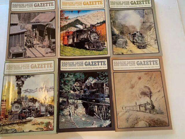 #29- Narrow Gauge And Short Line Gazette Magazine Lot Of 6