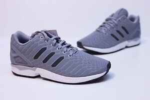 reputable site a6ba3 245c8 Image is loading Adidas-Originals-ZX-Flux-Men-039-s-Onix-
