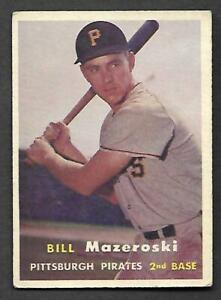 1957-Topps-24-Bill-Mazeroski-RC-Pirates-VG-EX