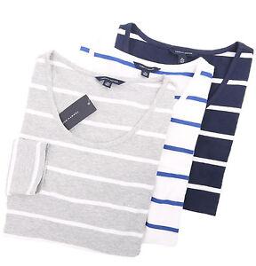 a84e67cb Tommy Hilfiger Women's Long Sleeve Wide-Neck Striped Tee T-Shirt ...