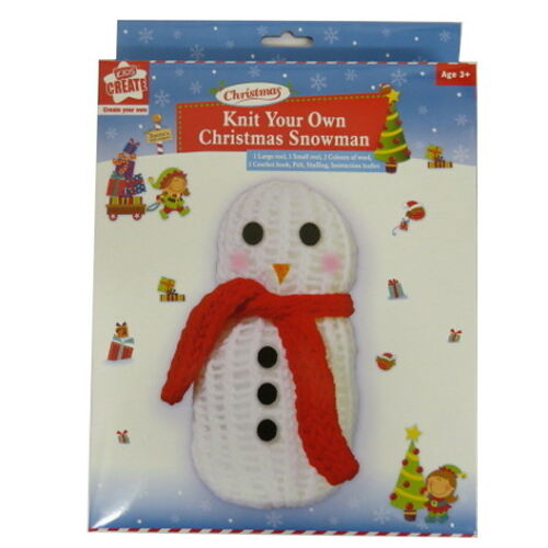 Knit Your Own Christmas Snowman Complete Pack