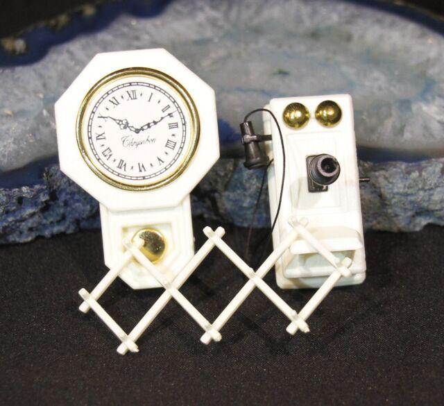 Dollhouse Miniature Chrysnbon Candlestick Table Kit In Brown