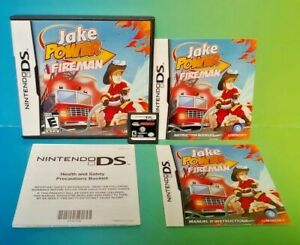 Jake-Power-Fireman-Nintendo-DS-DS-Lite-3DS-2DS-Game-Complete-Tested
