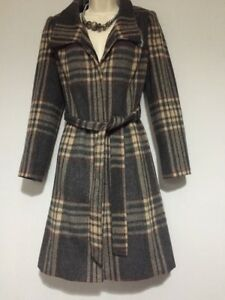 avec de dames Nouveau M mélange gratuit de taille pour Manteau en Per collier 8 laine Una de ceinture s et x7H78qY6rw