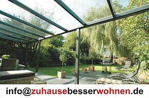 Top Terrassendach 500 x 350cm Alu Terrassenüberdachung VSG Glas Farbe Anthrazit - Essen, Deutschland - Top Terrassendach 500 x 350cm Alu Terrassenüberdachung VSG Glas Farbe Anthrazit - Essen, Deutschland